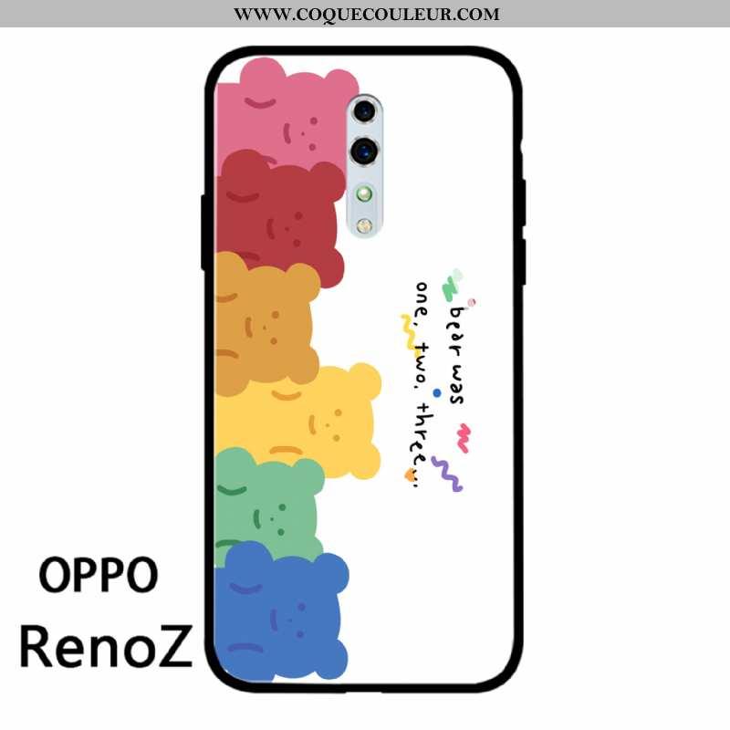 Housse Oppo Reno Z Tendance Incassable Charmant, Étui Oppo Reno Z Légère Téléphone Portable Blanche