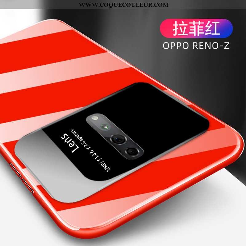 Étui Oppo Reno Z Tendance Créatif Étui, Coque Oppo Reno Z Légère Protection Rouge