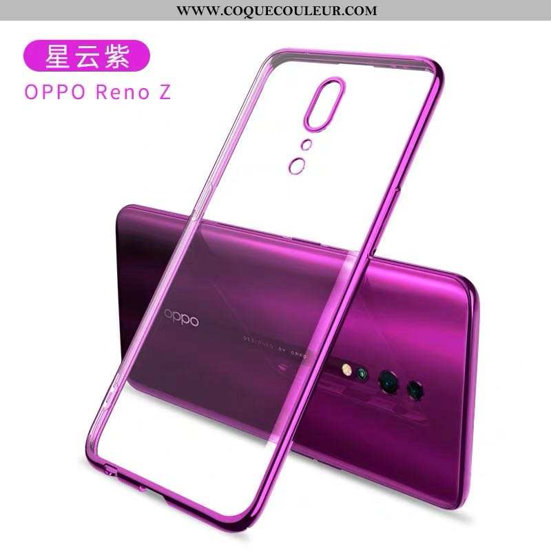 Housse Oppo Reno Z Silicone Téléphone Portable Net Rouge, Étui Oppo Reno Z Protection Tout Compris V