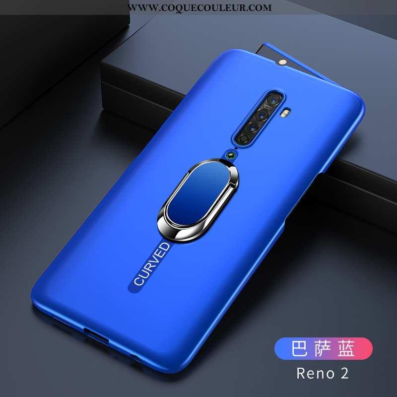 Coque Oppo Reno2 Légère Étui Difficile, Housse Oppo Reno2 Protection Ultra Bleu Foncé