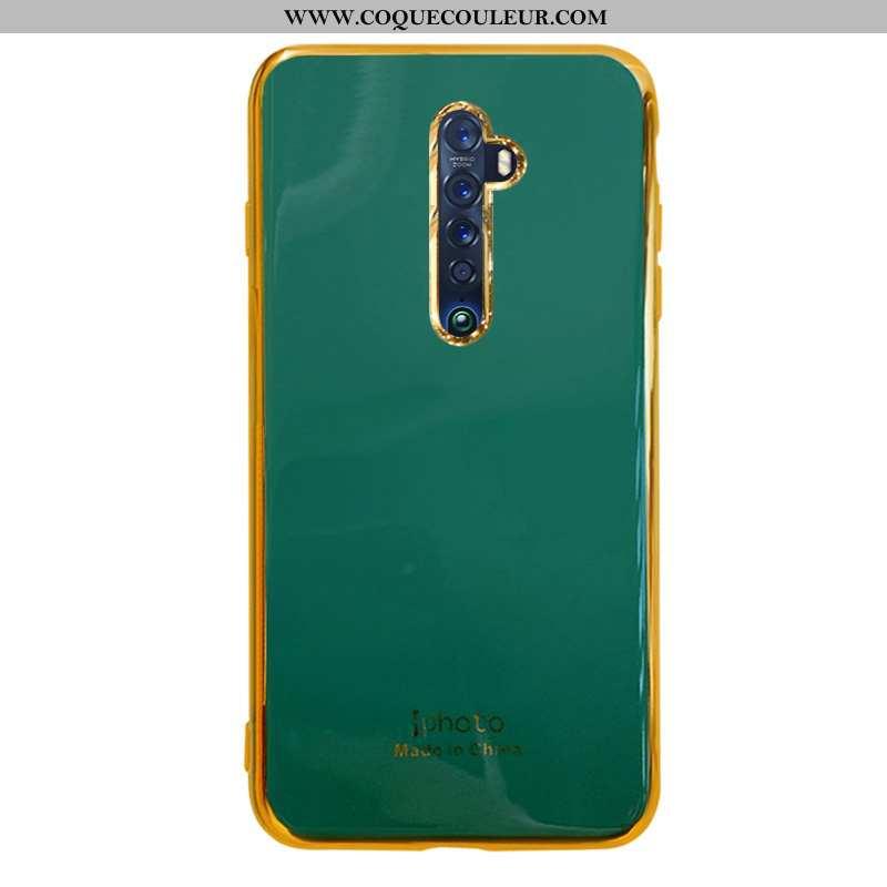 Housse Oppo Reno2 Silicone Téléphone Portable Coque, Étui Oppo Reno2 Protection Net Rouge Verte