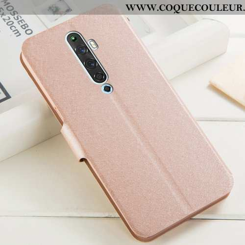 Housse Oppo Reno2 Z Protection Incassable Cuir, Étui Oppo Reno2 Z Strass Support Champagne