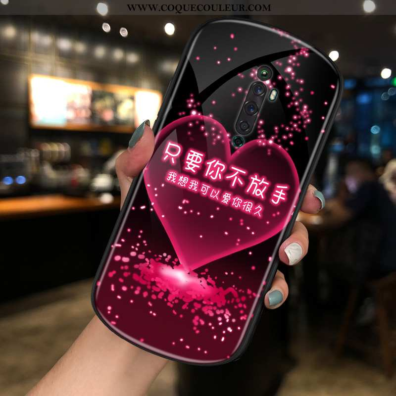 Étui Oppo Reno2 Z Personnalité Verre Téléphone Portable, Coque Oppo Reno2 Z Tendance Net Rouge
