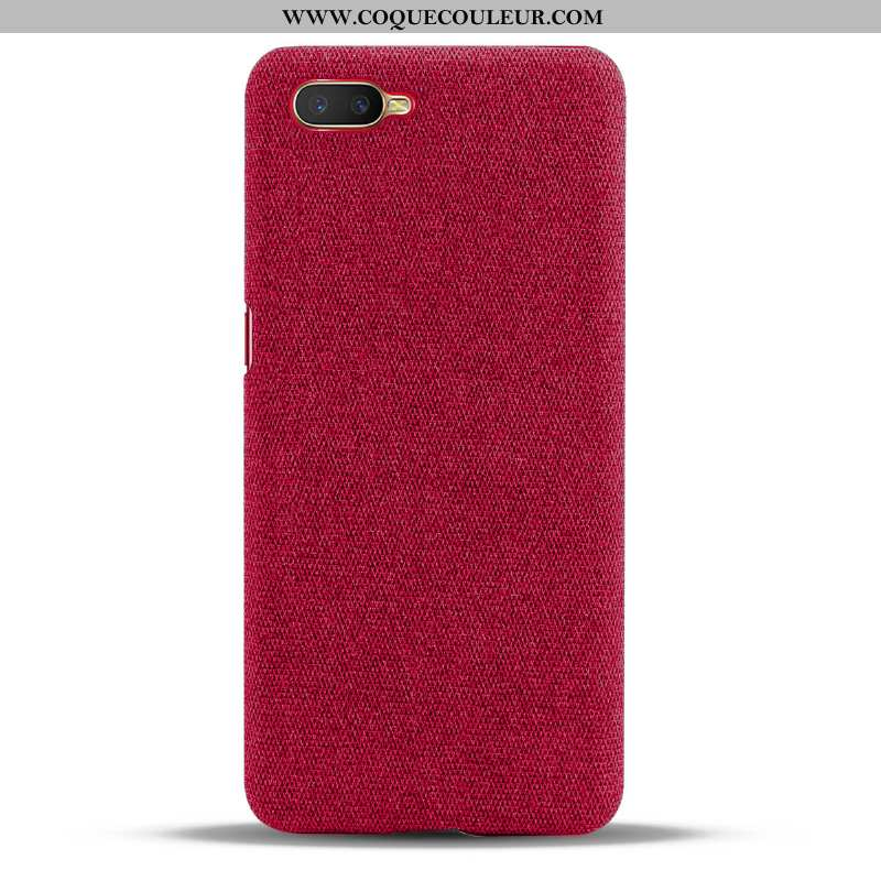 Coque Oppo Rx17 Neo Protection Étui Rouge, Housse Oppo Rx17 Neo Tendance Téléphone Portable Rouge