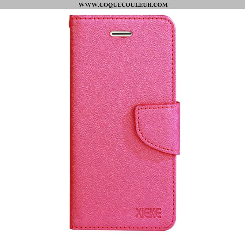 Coque Oppo Rx17 Neo Protection Cuir Rouge, Housse Oppo Rx17 Neo Tendance Fluide Doux Rose
