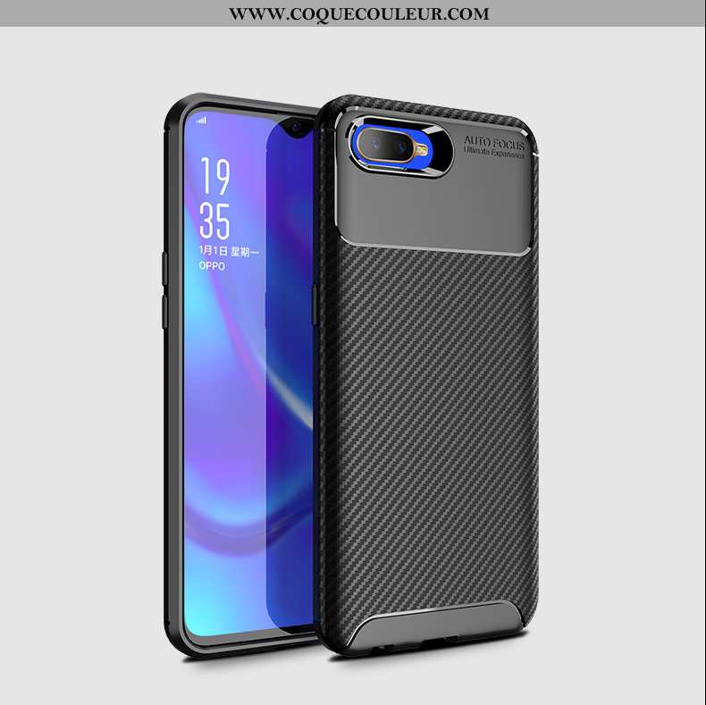 Coque Oppo Rx17 Neo Silicone Simple Modèle Fleurie, Housse Oppo Rx17 Neo Protection Magnétisme Noir
