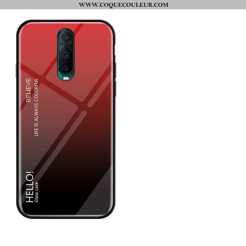 Housse Oppo Rx17 Pro Protection Étui Membrane, Oppo Rx17 Pro Verre Rouge