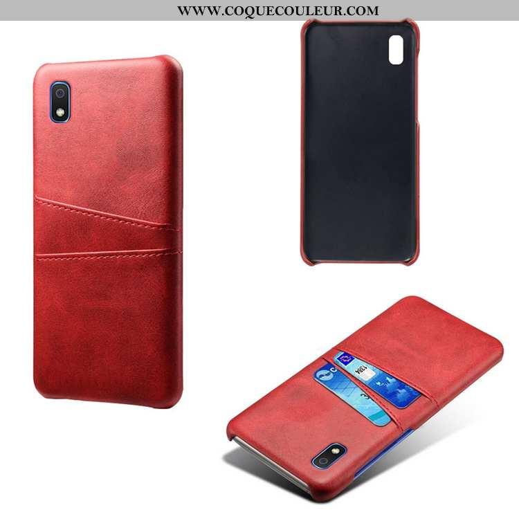 Housse Samsung Galaxy A10 Personnalité Étui Incassable, Samsung Galaxy A10 Cuir Petit Rouge