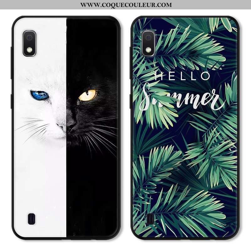 Housse Samsung Galaxy A10 Personnalité Coque Étui, Étui Samsung Galaxy A10 Créatif Incassable Verte
