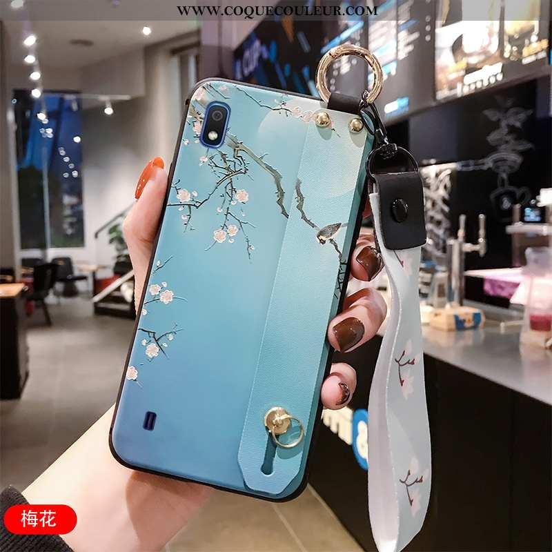 Étui Samsung Galaxy A10 Protection Gaufrage Étui, Coque Samsung Galaxy A10 Ornements Suspendus Vent