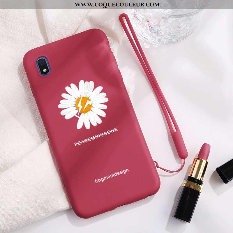 Étui Samsung Galaxy A10 Silicone Vent Étui, Coque Samsung Galaxy A10 Protection Incassable Rouge