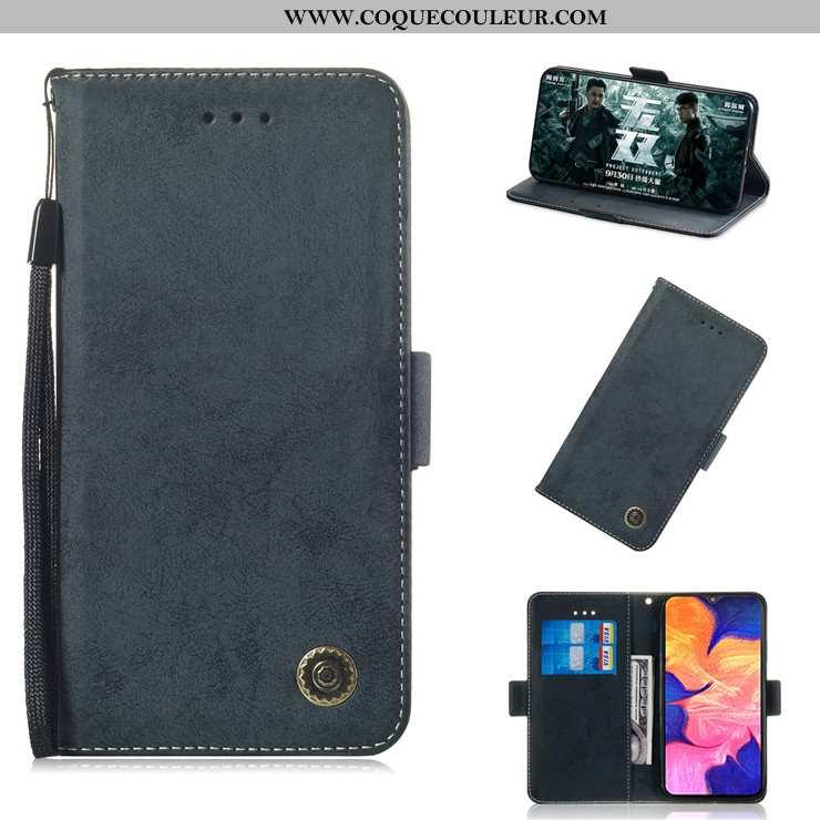 Housse Samsung Galaxy A10 Protection Tout Compris Incassable, Étui Samsung Galaxy A10 Cuir Noir