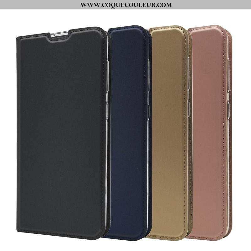 Étui Samsung Galaxy A10 Cuir Incassable Noir, Coque Samsung Galaxy A10 Fluide Doux Noir