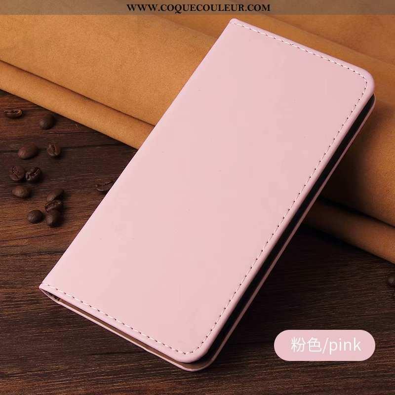 Étui Samsung Galaxy A10s Cuir Délavé En Daim Rose, Coque Samsung Galaxy A10s Silicone Tout Compris R