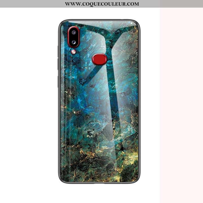 Coque Samsung Galaxy A10s Protection Tendance Fluide Doux, Housse Samsung Galaxy A10s Verre Bleu