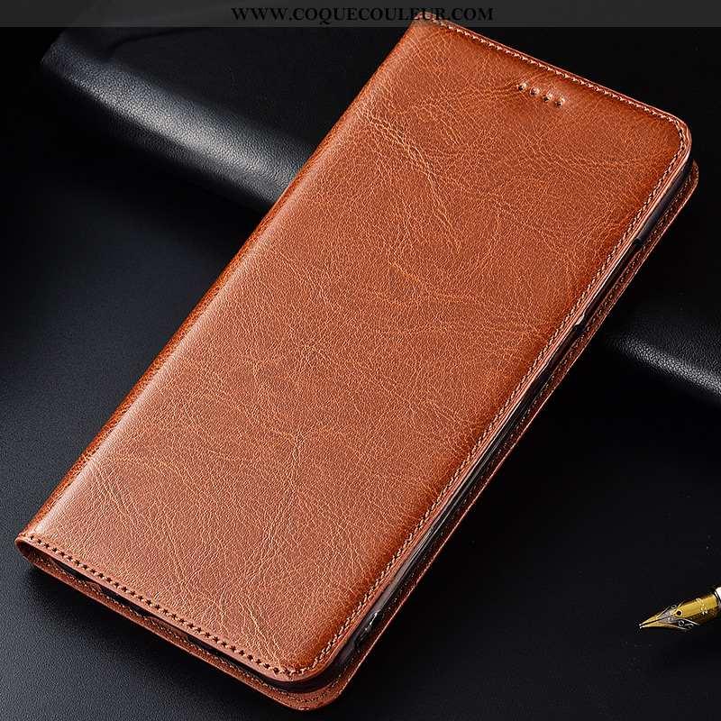 Coque Samsung Galaxy A10s Cuir Véritable Étui Téléphone Portable, Housse Samsung Galaxy A10s Tendanc