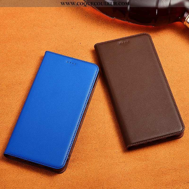 Coque Samsung Galaxy A10s Délavé En Daim Cuir Nouveau, Housse Samsung Galaxy A10s Cuir Véritable Sil