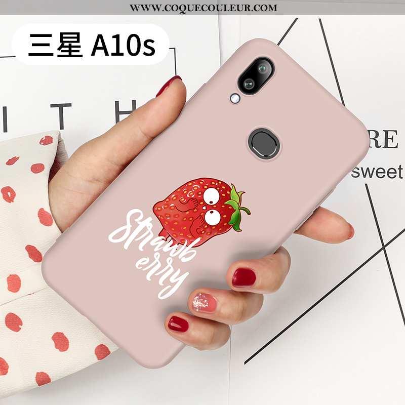 Étui Samsung Galaxy A10s Personnalité Légère, Coque Samsung Galaxy A10s Créatif Tendance Rose