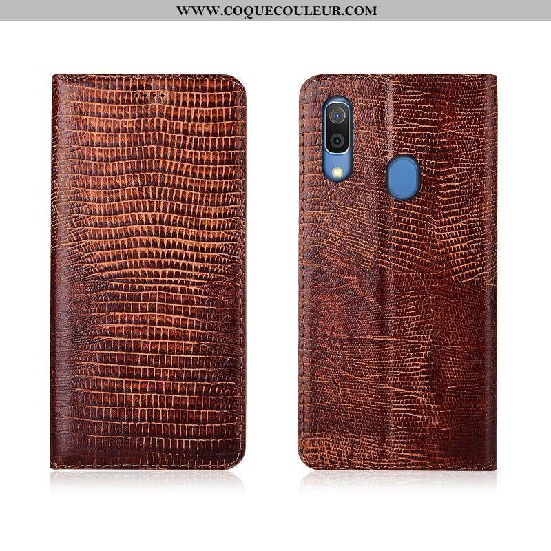 Housse Samsung Galaxy A20e Cuir Véritable Téléphone Portable Étui, Étui Samsung Galaxy A20e Silicone