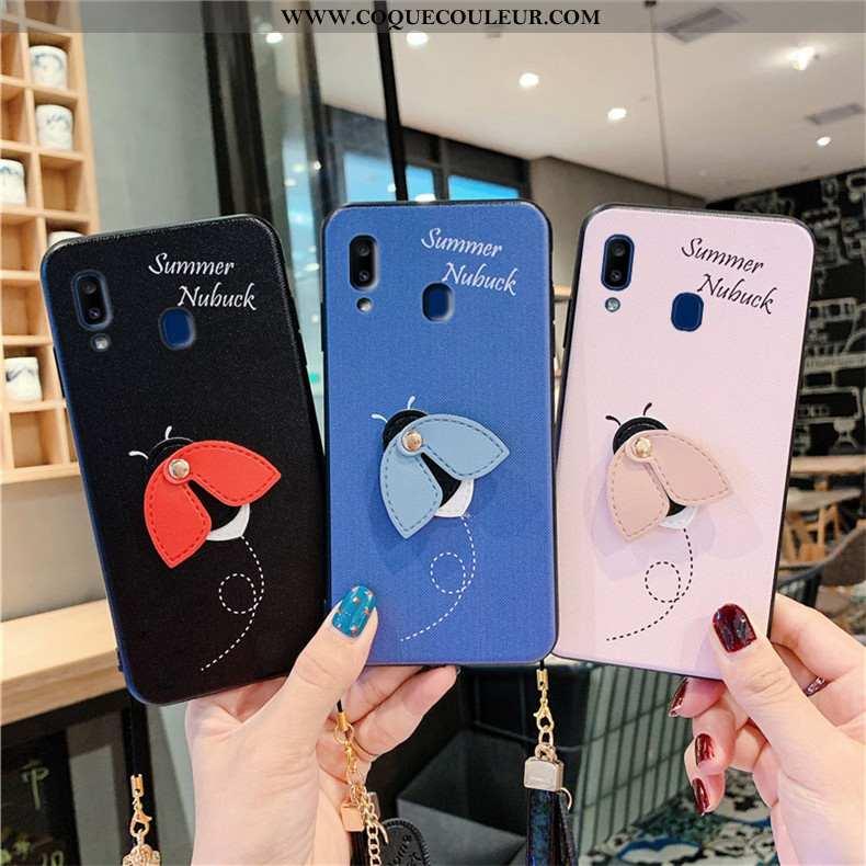Étui Samsung Galaxy A20e Fluide Doux Coque Charmant, Samsung Galaxy A20e Silicone Étoile Bleu