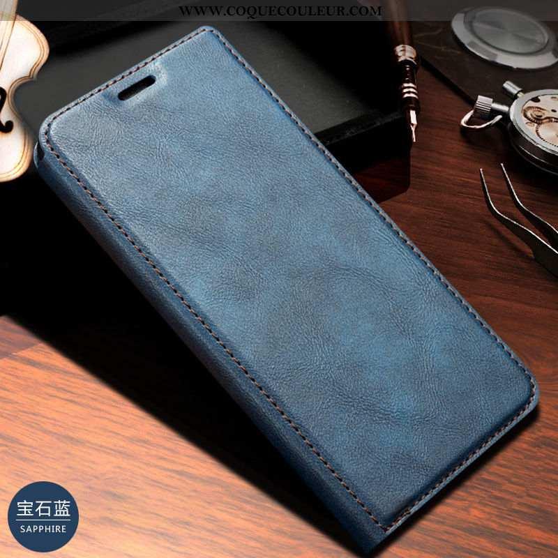 Housse Samsung Galaxy A20e Cuir Véritable Étui, Étui Samsung Galaxy A20e Téléphone Portable Coque Bl
