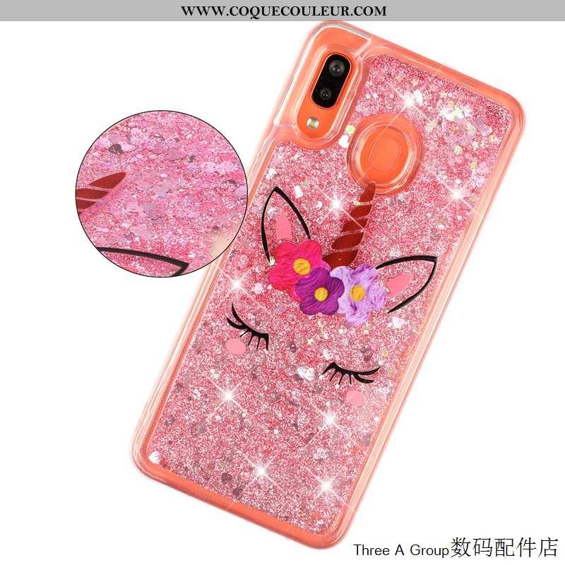 Housse Samsung Galaxy A20e Protection Coque Rose, Étui Samsung Galaxy A20e Charmant Tout Compris Ros