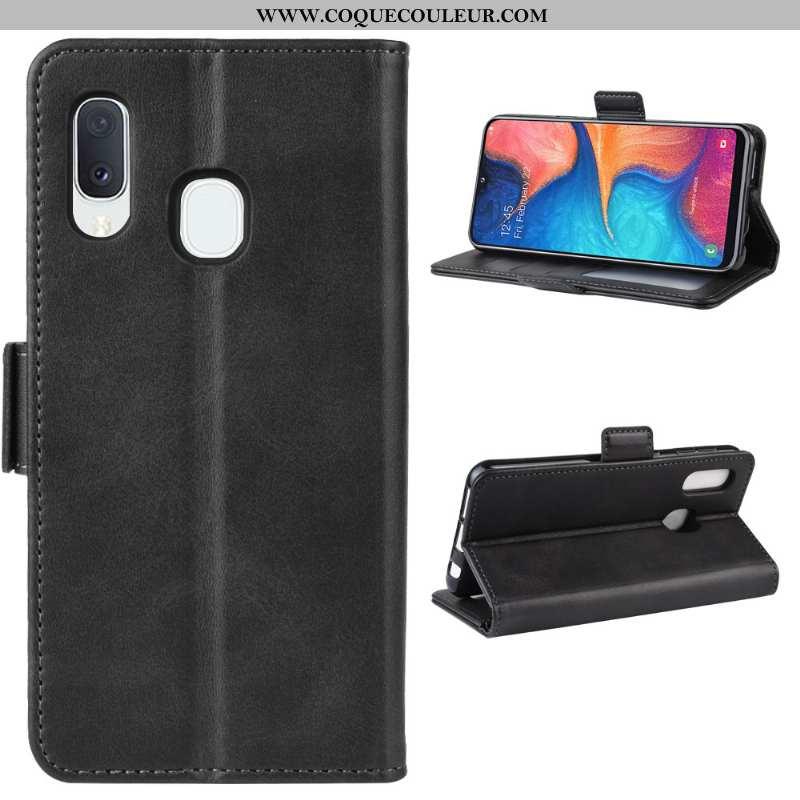 Coque Samsung Galaxy A20e Protection Étui Noir, Housse Samsung Galaxy A20e Modèle Fleurie Une Agrafe