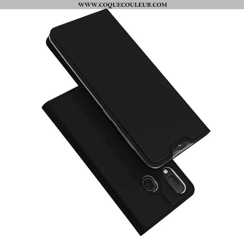 Coque Samsung Galaxy A20e Protection Incassable Étui, Housse Samsung Galaxy A20e Cuir Noir