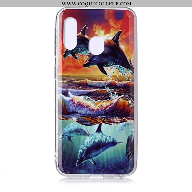 Coque Samsung Galaxy A20e Personnalité Tendance, Housse Samsung Galaxy A20e Dessin Animé Étoile Bleu