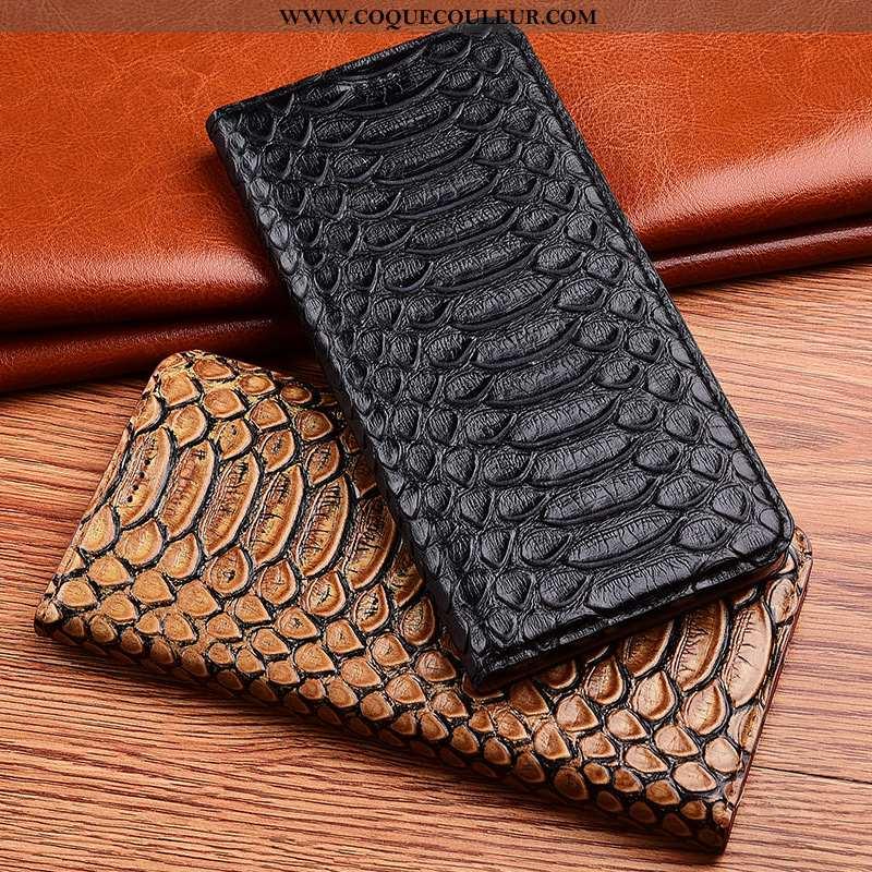Coque Samsung Galaxy A20s Cuir Noir Housse, Housse Samsung Galaxy A20s Modèle Fleurie Silicone