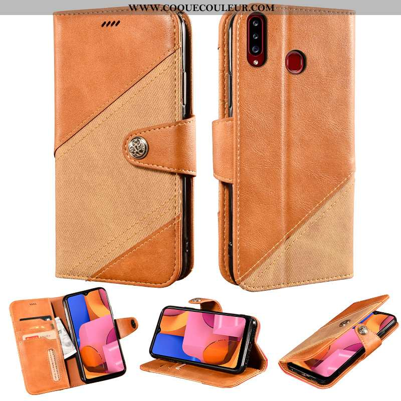 Housse Samsung Galaxy A20s Protection Support Cuir, Étui Samsung Galaxy A20s Portefeuille Téléphone
