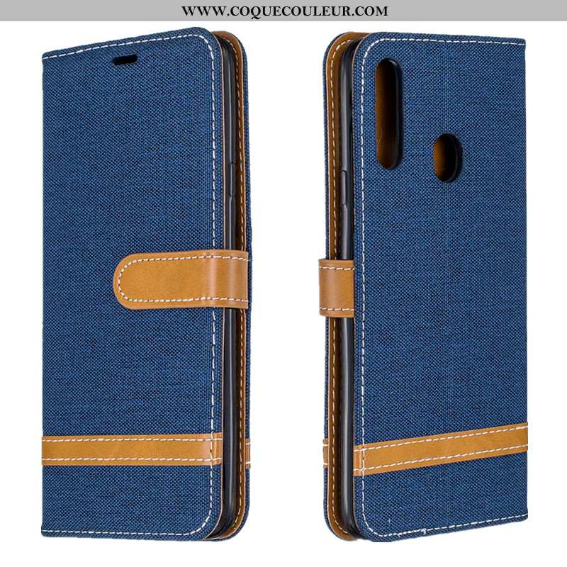Housse Samsung Galaxy A20s Tendance Étui Tout Compris, Samsung Galaxy A20s Cuir Protection Bleu