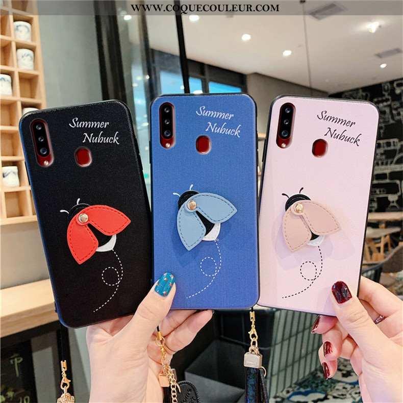 Housse Samsung Galaxy A20s Fluide Doux Petit Téléphone Portable, Étui Samsung Galaxy A20s Silicone B