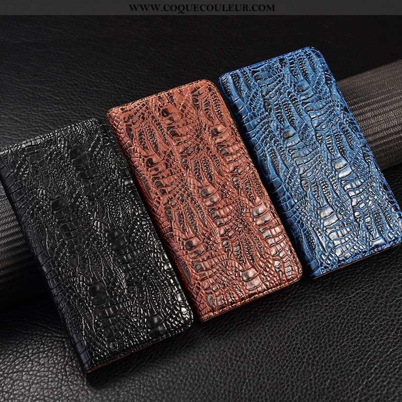 Étui Samsung Galaxy A21s Cuir Véritable Incassable, Coque Samsung Galaxy A21s Protection Bleu