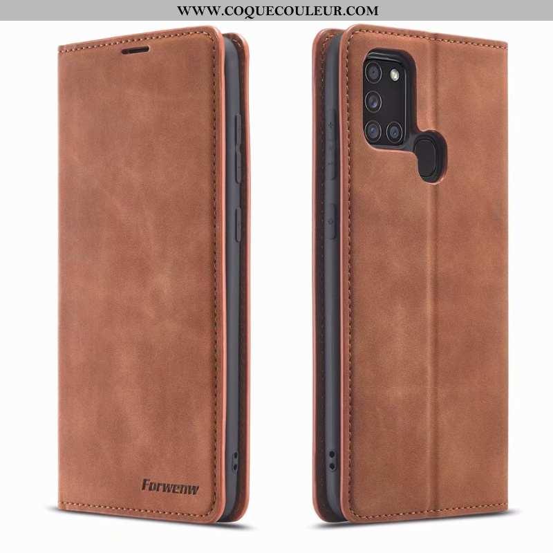 Housse Samsung Galaxy A21s Cuir Téléphone Portable Étui, Étui Samsung Galaxy A21s Tendance Incassabl