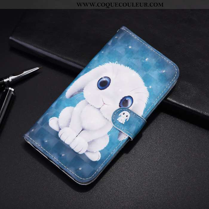 Housse Samsung Galaxy A21s Cuir Étui Dessin Animé, Samsung Galaxy A21s Protection Bleu