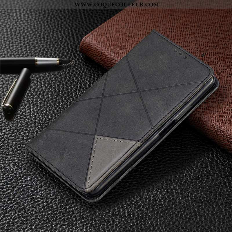 Coque Samsung Galaxy A21s Protection Téléphone Portable Noir, Housse Samsung Galaxy A21s Cuir Étui N
