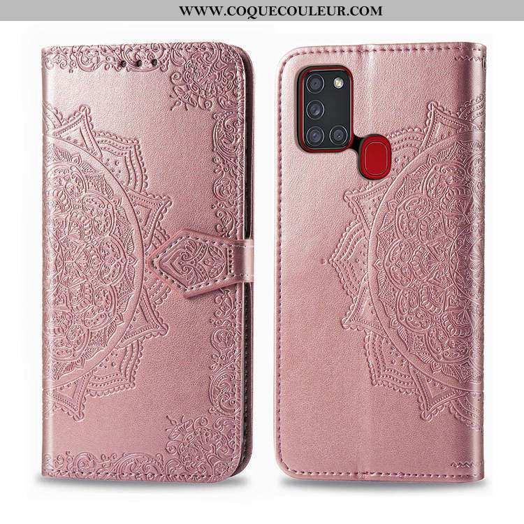 Étui Samsung Galaxy A21s Cuir Incassable Téléphone Portable, Coque Samsung Galaxy A21s Portefeuille