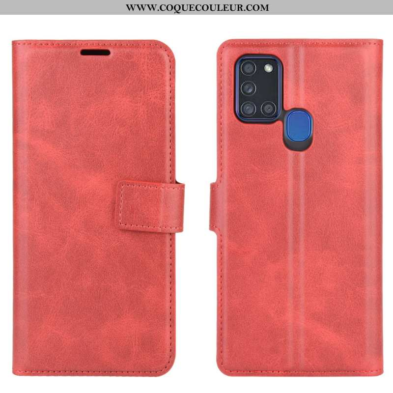 Coque Samsung Galaxy A21s Modèle Fleurie Bovins Une Agrafe, Housse Samsung Galaxy A21s Protection Ro