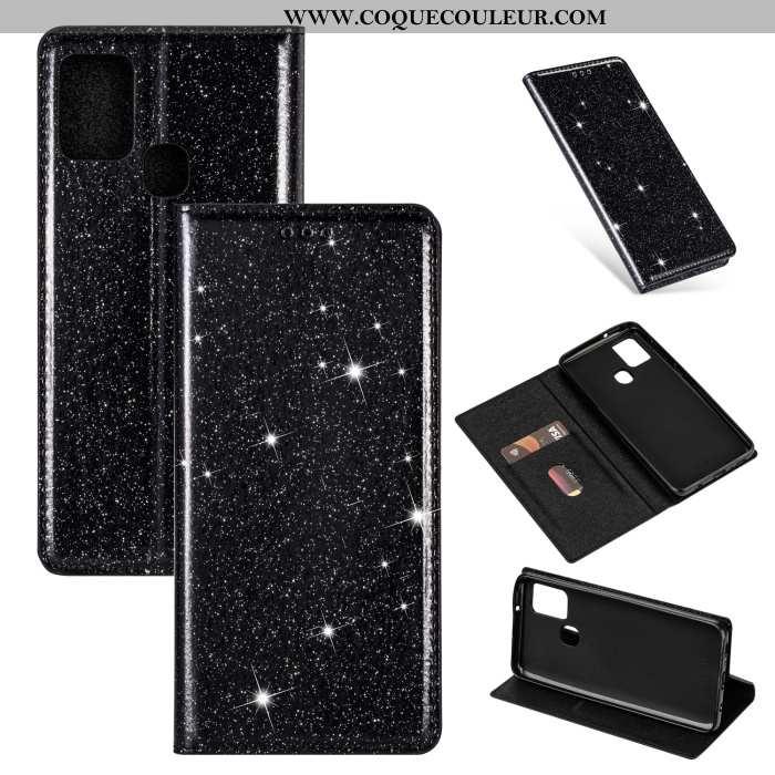 Coque Samsung Galaxy A21s Cuir Rose Incassable, Housse Samsung Galaxy A21s Silicone Tout Compris Noi