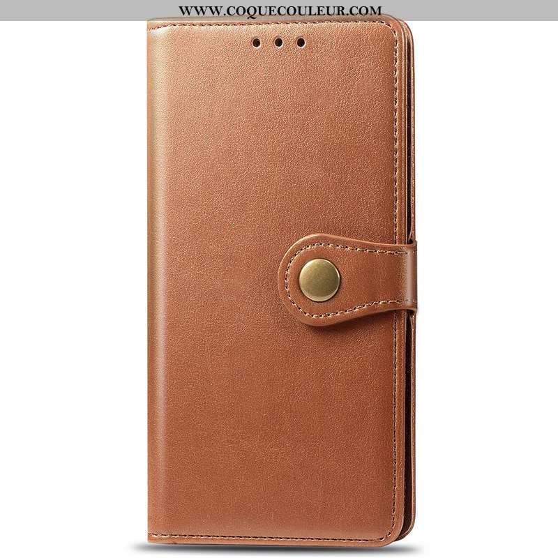Coque Samsung Galaxy A21s Portefeuille Couleur Unie Business, Housse Samsung Galaxy A21s Cuir Incass
