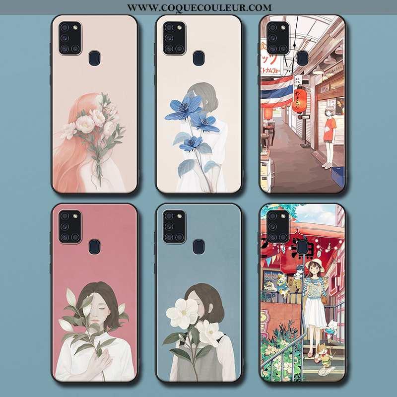 Coque Samsung Galaxy A21s Délavé En Daim Téléphone Portable Art, Housse Samsung Galaxy A21s Créatif