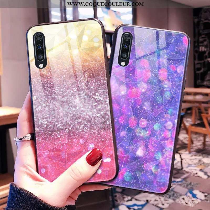 Housse Samsung Galaxy A30s Coque Téléphone Portable Violet, Étui Samsung Galaxy A30s Étoile Losange