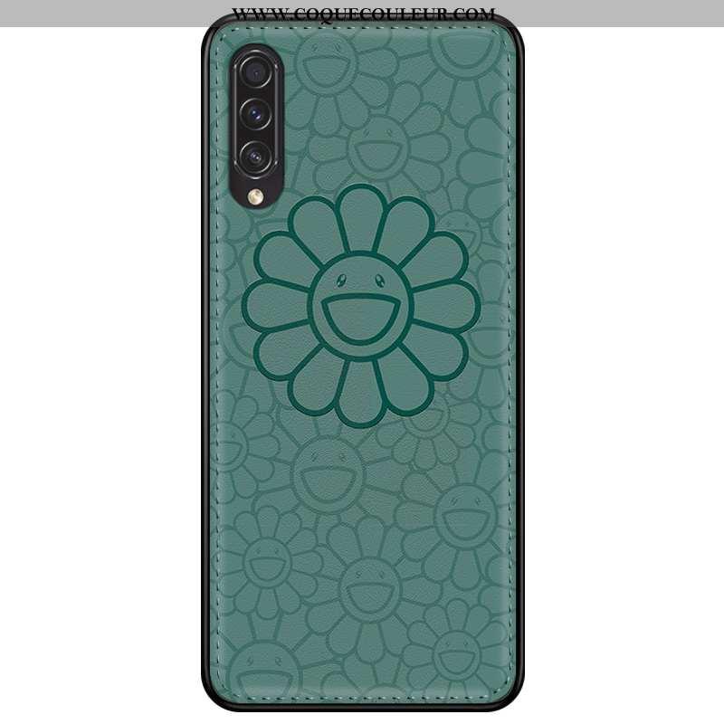 Housse Samsung Galaxy A30s Cuir Étoile Fleur, Étui Samsung Galaxy A30s Modèle Fleurie Protection Ver