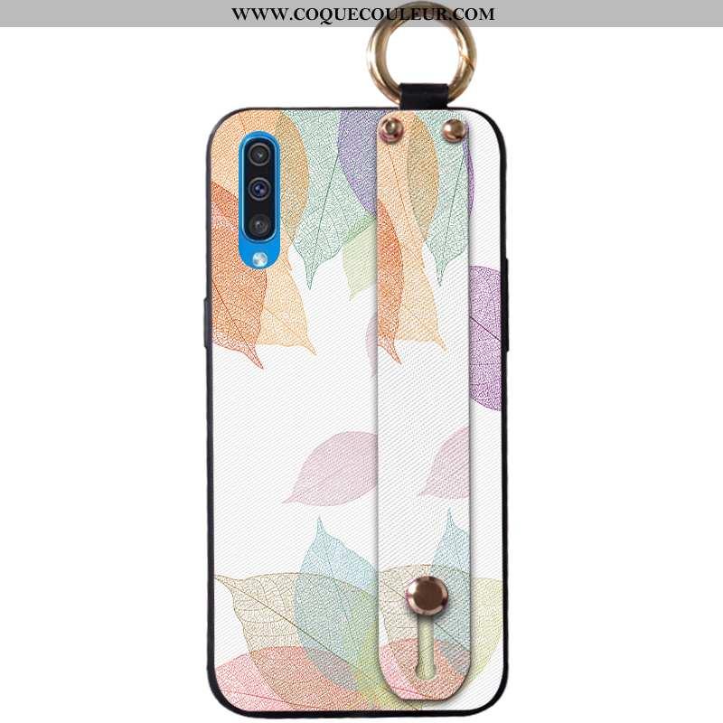 Housse Samsung Galaxy A30s Silicone Élégant Créatif, Étui Samsung Galaxy A30s Protection Blanche