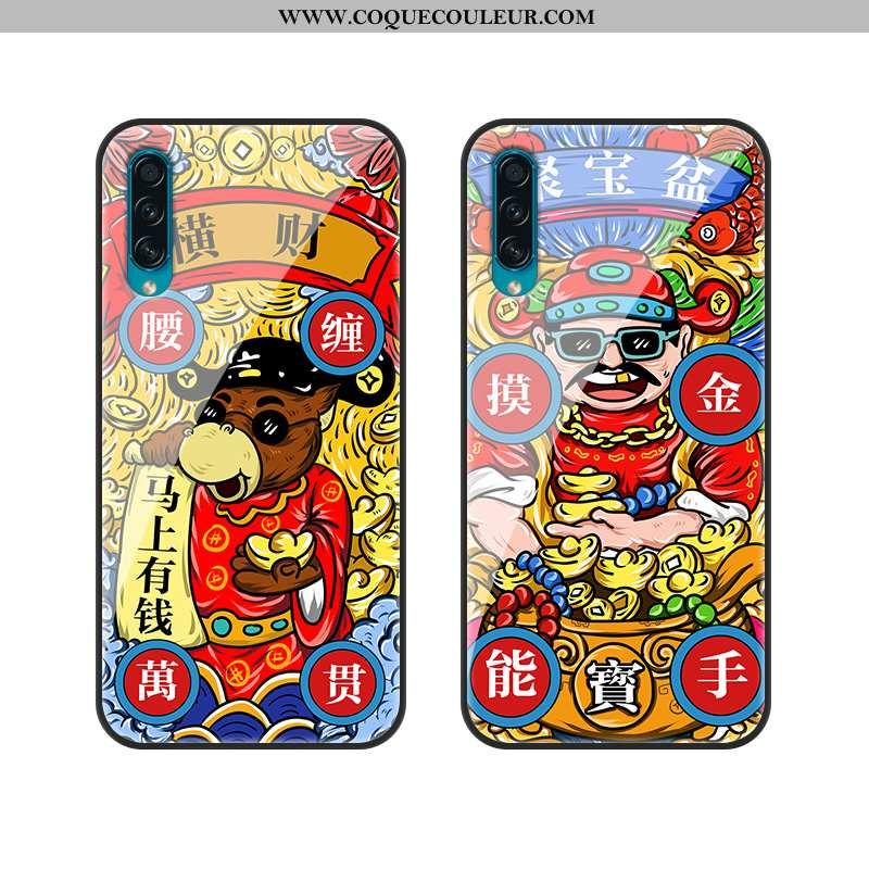 Coque Samsung Galaxy A30s Protection Tout Compris Mode, Housse Samsung Galaxy A30s Verre Étoile Roug