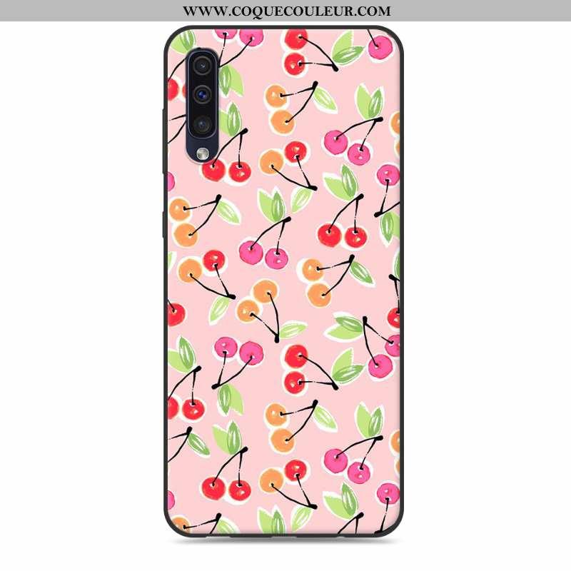 Housse Samsung Galaxy A30s Dessin Animé Étui Fluide Doux, Samsung Galaxy A30s Tendance Coque Rose