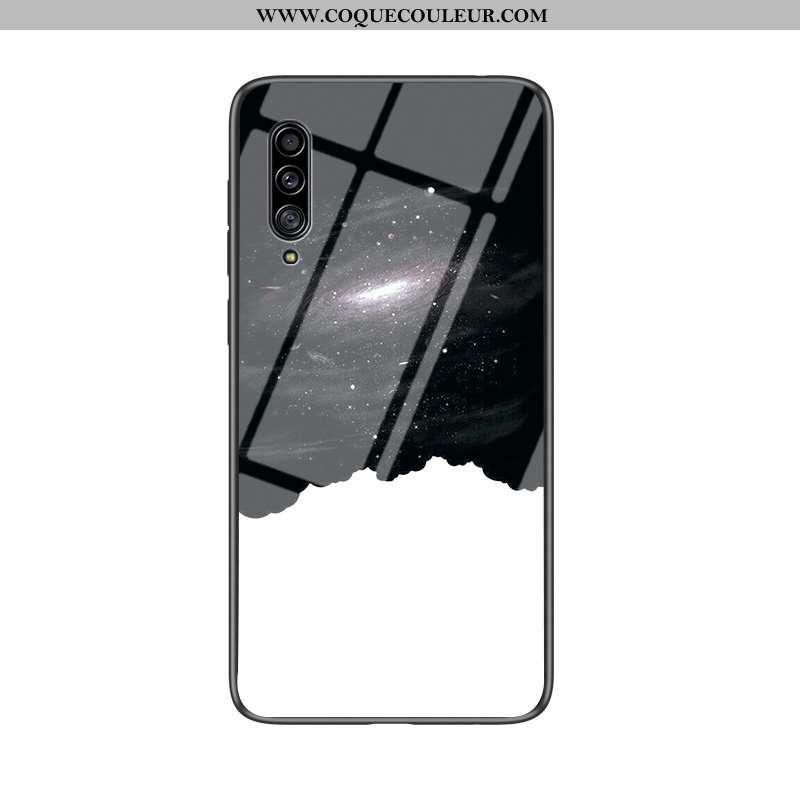 Coque Samsung Galaxy A30s Protection Étoile Étui, Housse Samsung Galaxy A30s Verre Difficile Noir