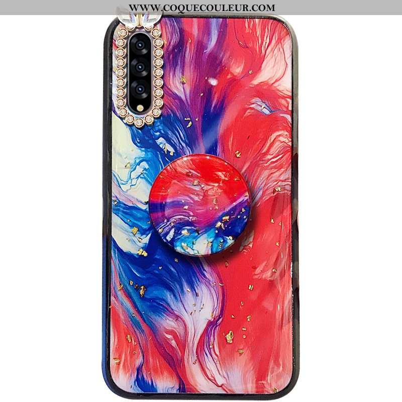 Housse Samsung Galaxy A30s Strass Support Étui, Étui Samsung Galaxy A30s Tendance Incassable Rouge