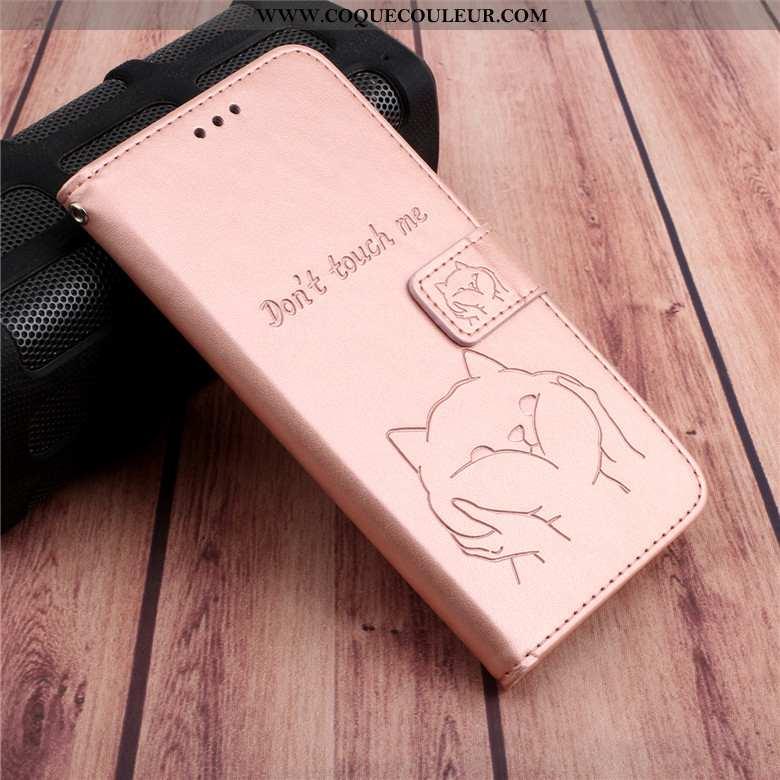 Étui Samsung Galaxy A30s Protection Coque Étui, Samsung Galaxy A30s Cuir Rose